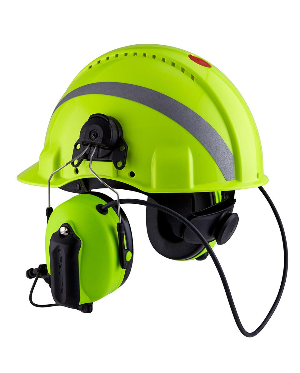 HiVis Funk-Kopfschutz-Kombination 3M WS ProTac XP Forestry Bild 3