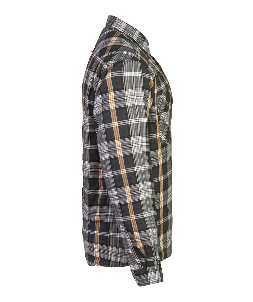 JOBMAN Flanellhemd gefüttert 5157 Grau Bild 4
