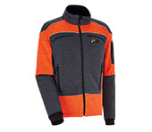 X-treme Arctic Faserstrickjacke orange/grau