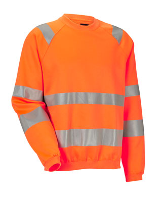 JOBMAN Sweatshirt HiVis 1150 Orange